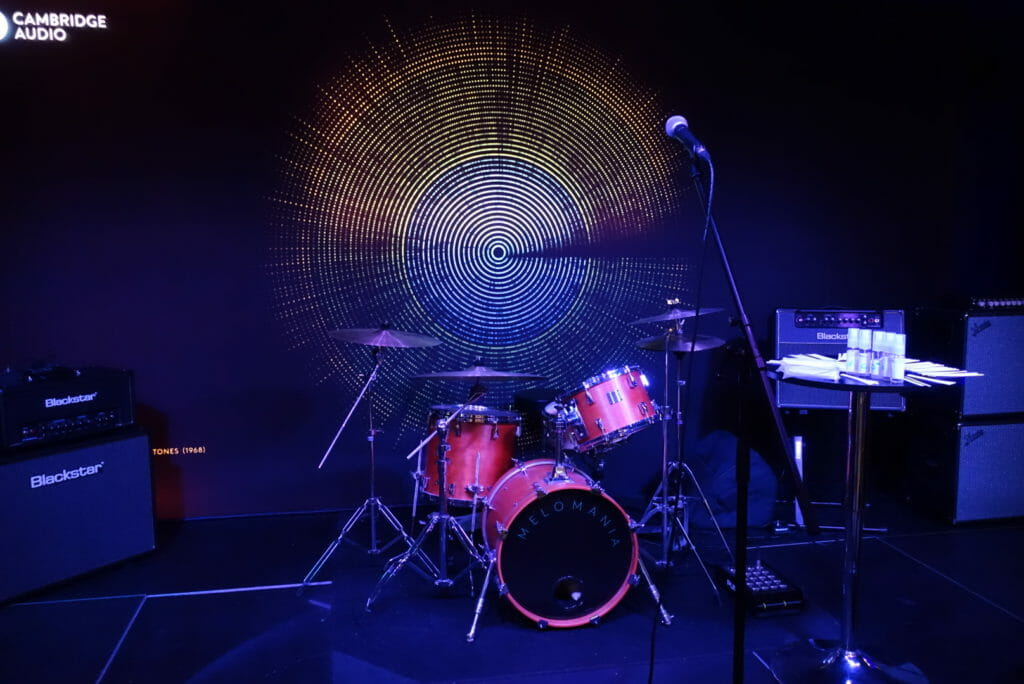 The stage with drum kit