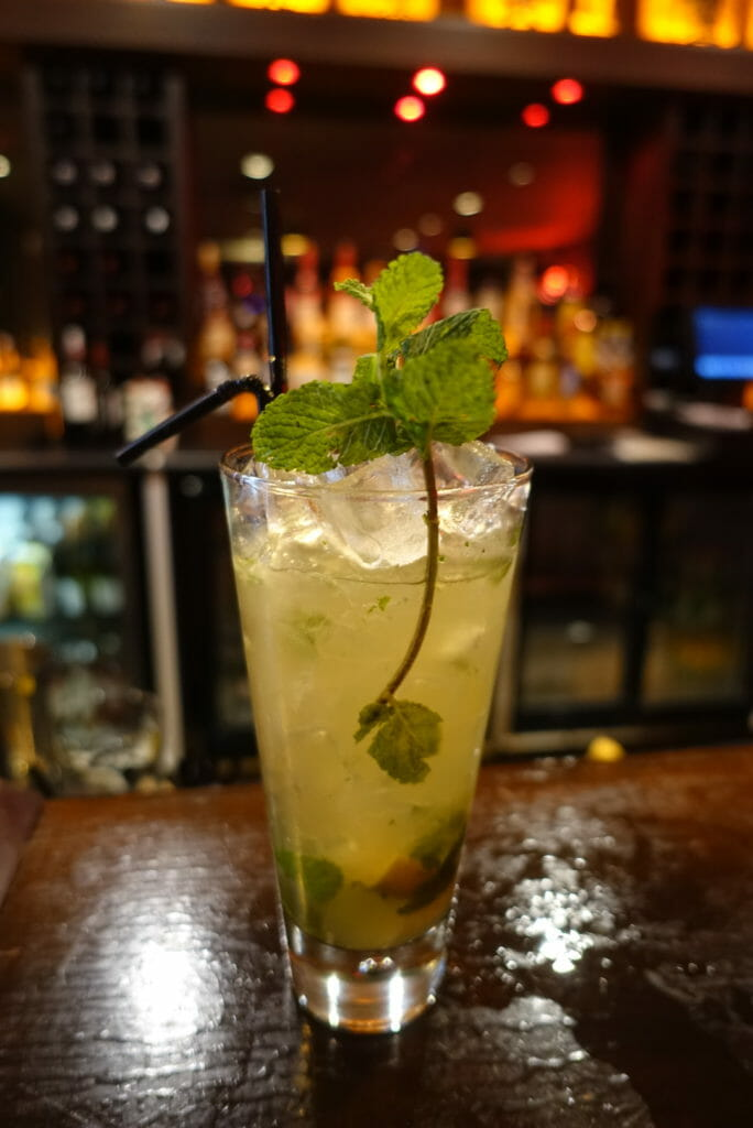 Tamashii Mojito cocktail on the bar