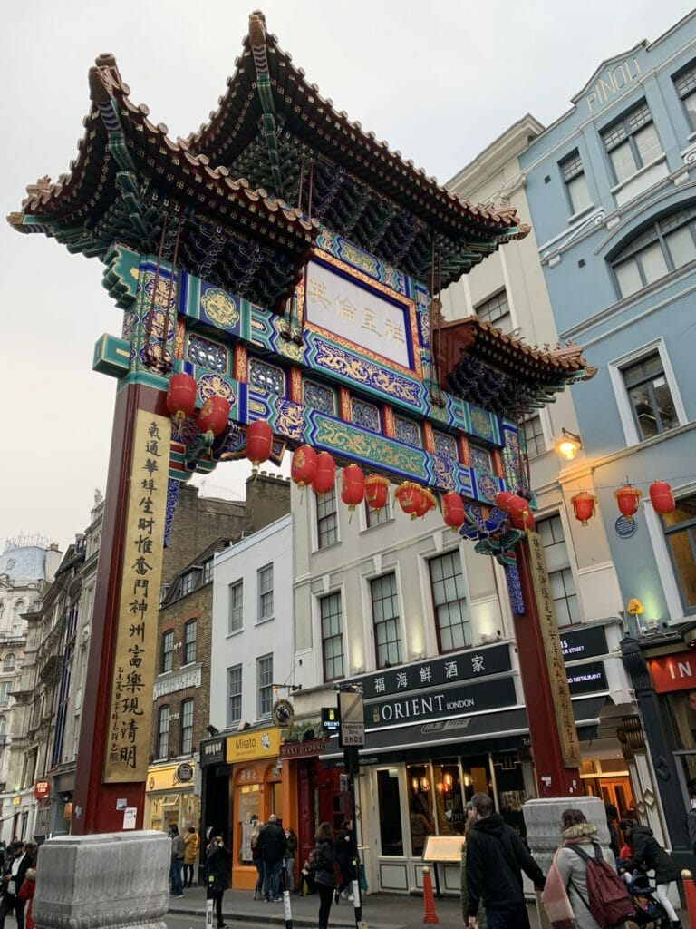 The newest and fanciest of the China Town gates