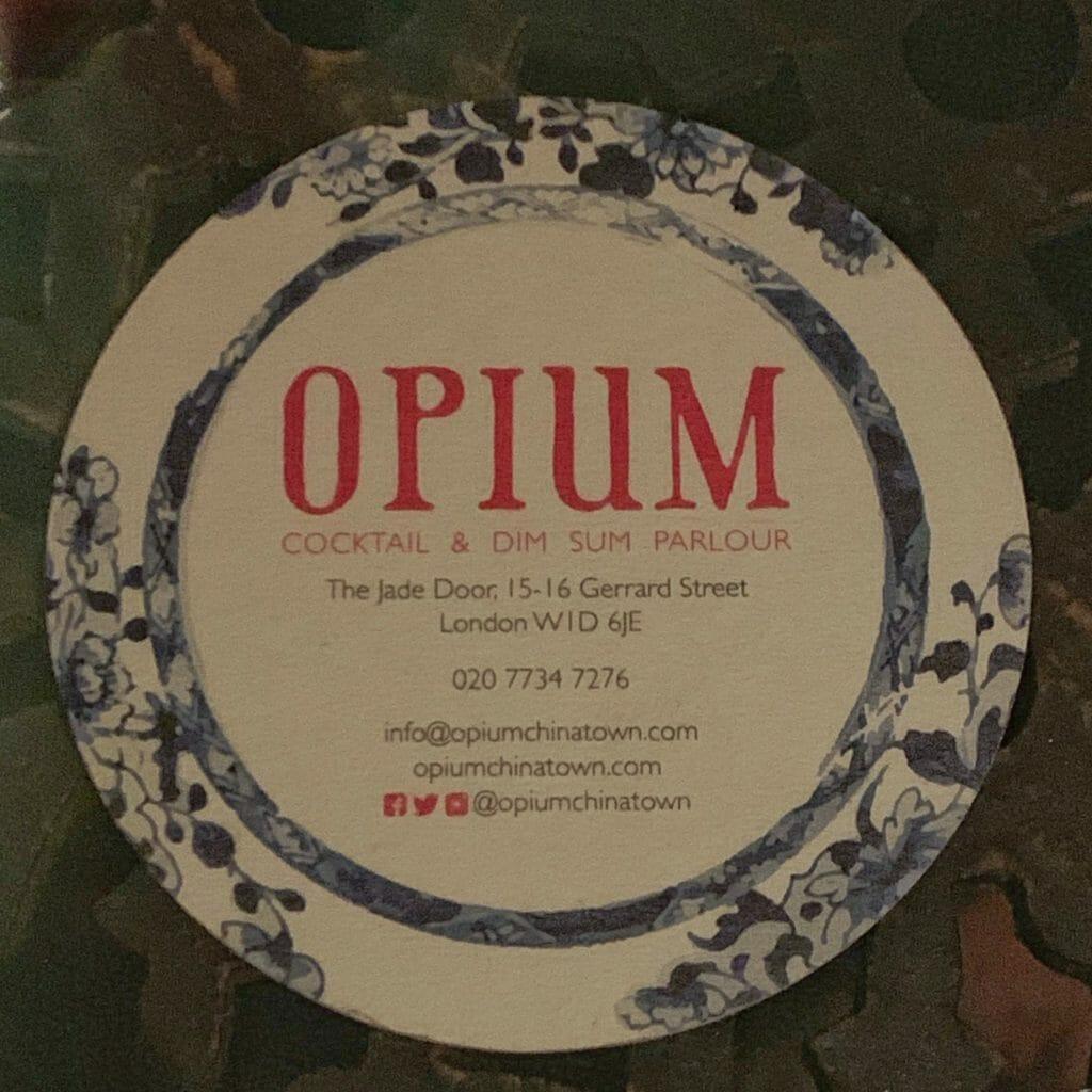 Opium coaster