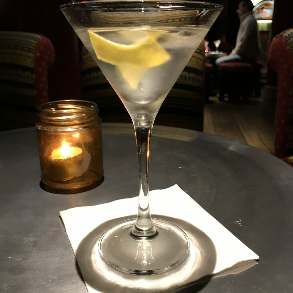 A Vesper martini, created by Ian Fleming in the James Bond books