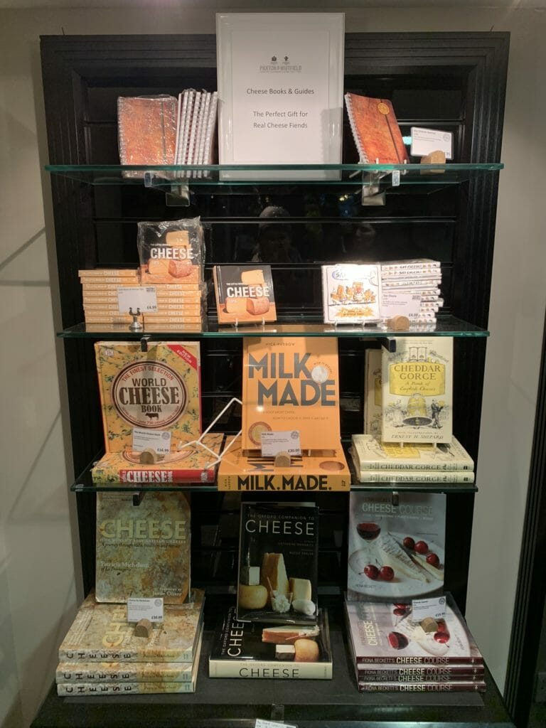 A selection of books for cheese lovers