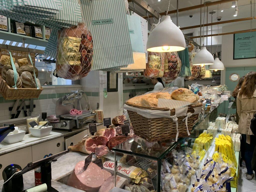 Inside Lina Stores deli