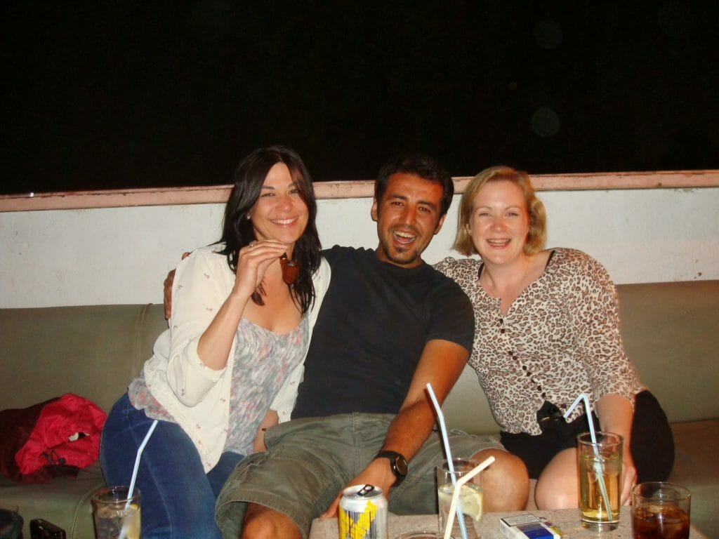 Katie and friends on a night out in Aqaba