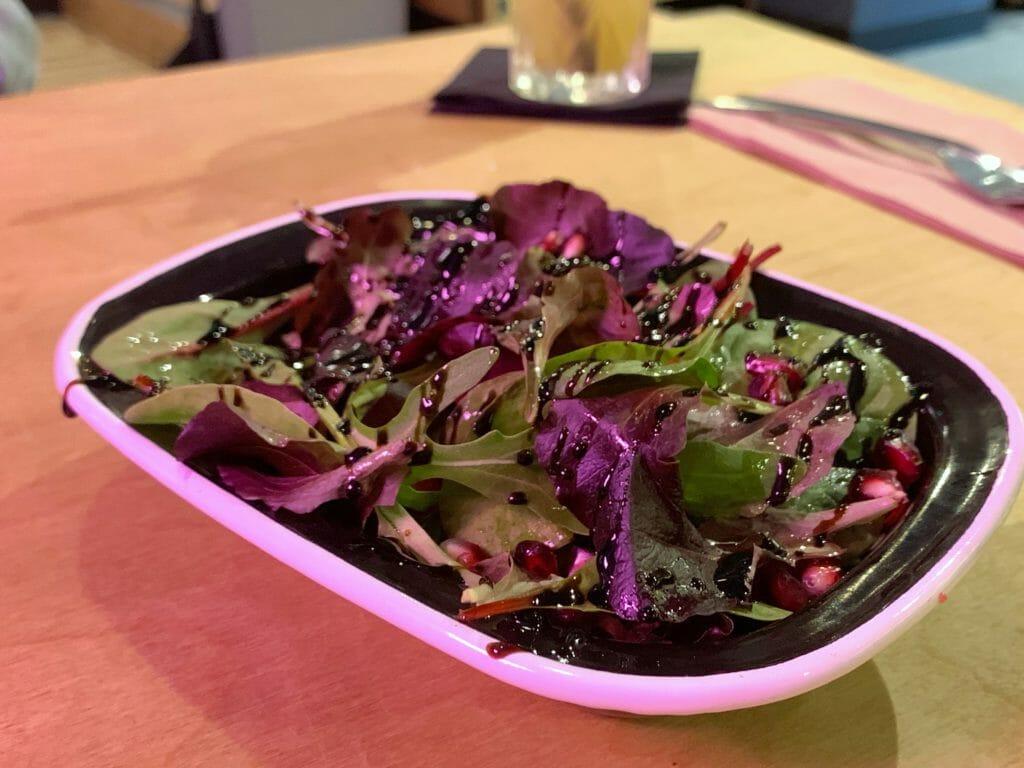 The healthy-ish option of pomegranate salad