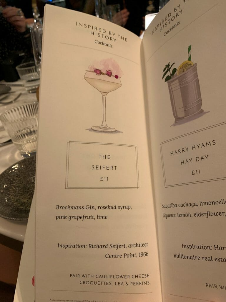 The illustrated cocktail menu