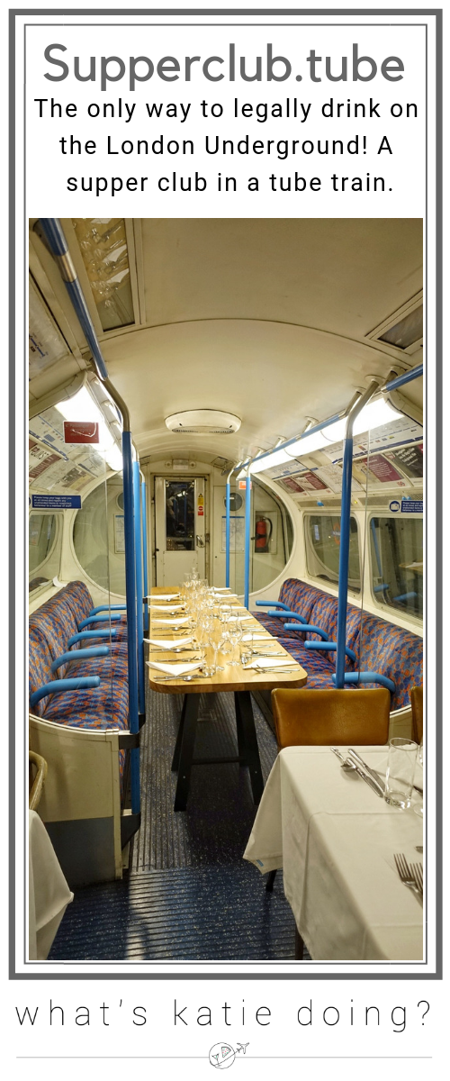 Supperclub.tube - the only way to legally drink on London's Underground & a great supper club too!