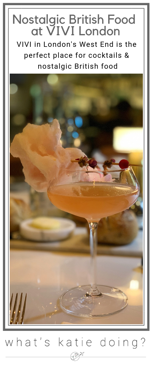 Nostalgic British food and great cocktails at Vivi restaurant, London
