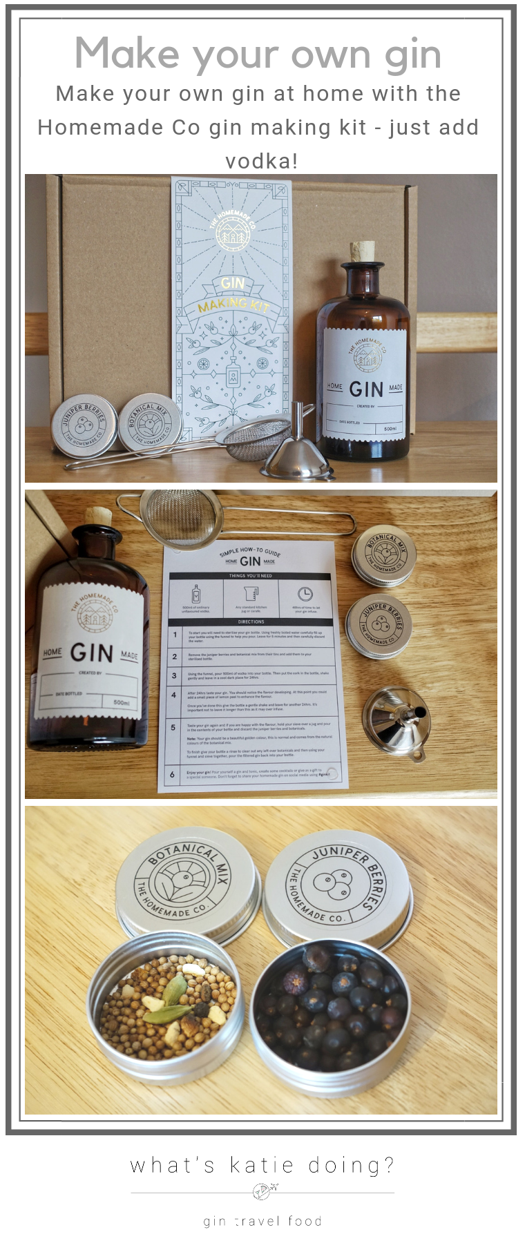Infuse your own gin with the gin making kit from Homemade Co