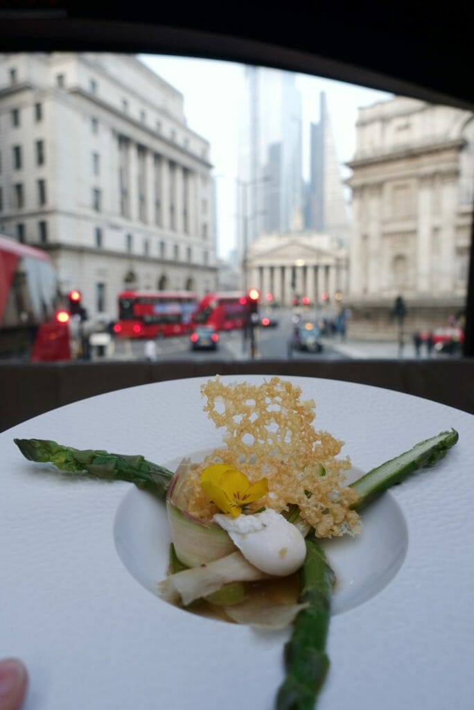 Asparagus with the City of London behind
