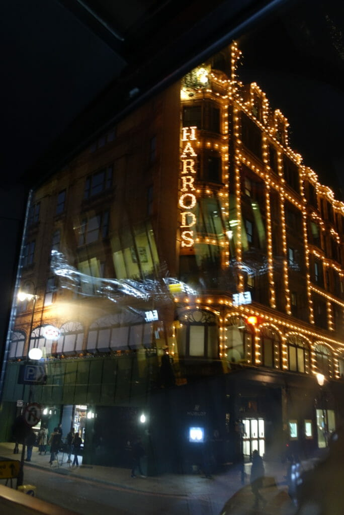 The lights of Harrods department store