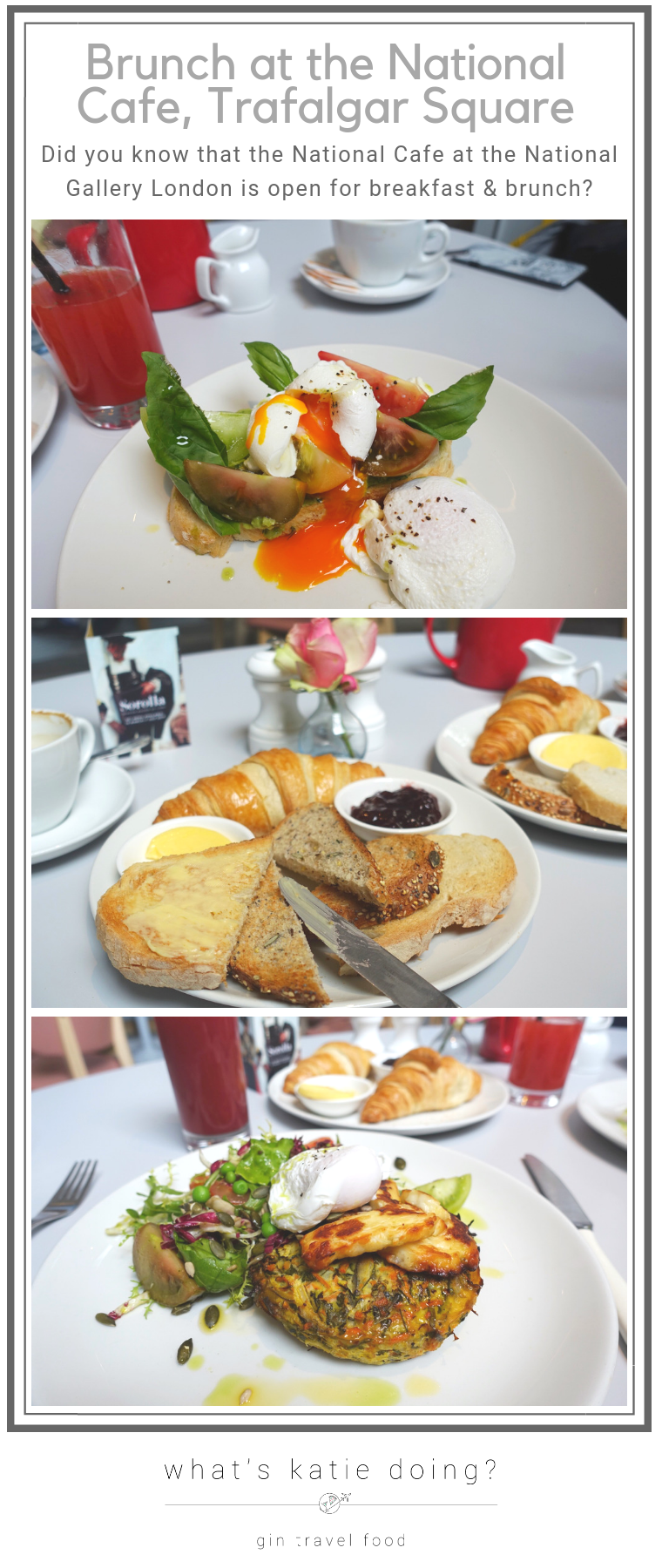 Brunch at the National Cafe, Trafalgar Square, London
