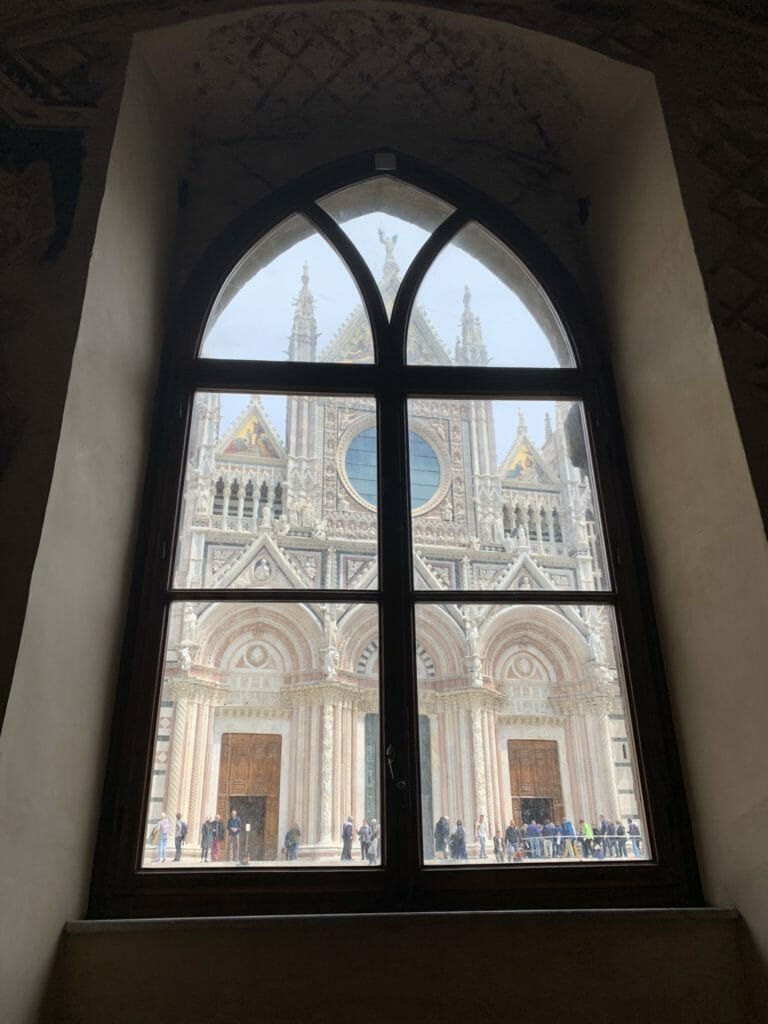 View of the Cathedral out of the window
