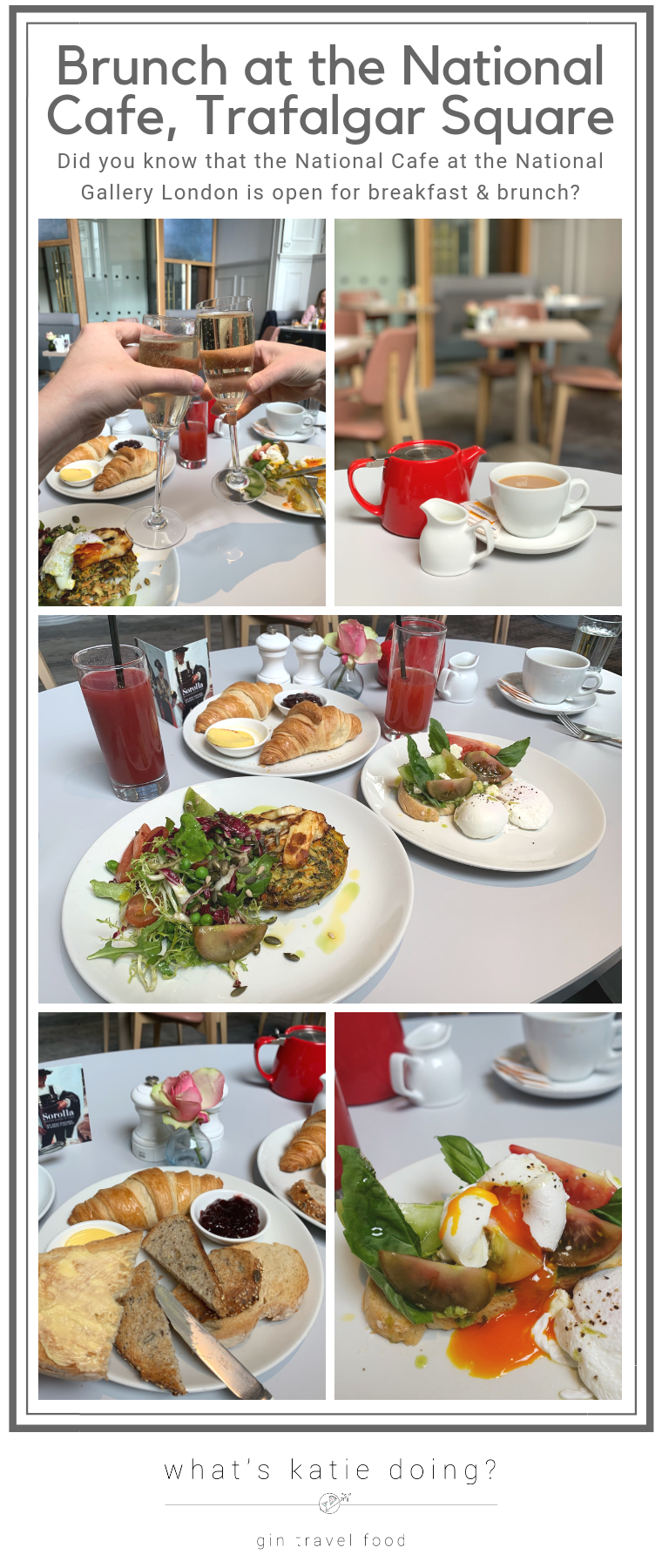 Brunch at the National Cafe, National Gallery London