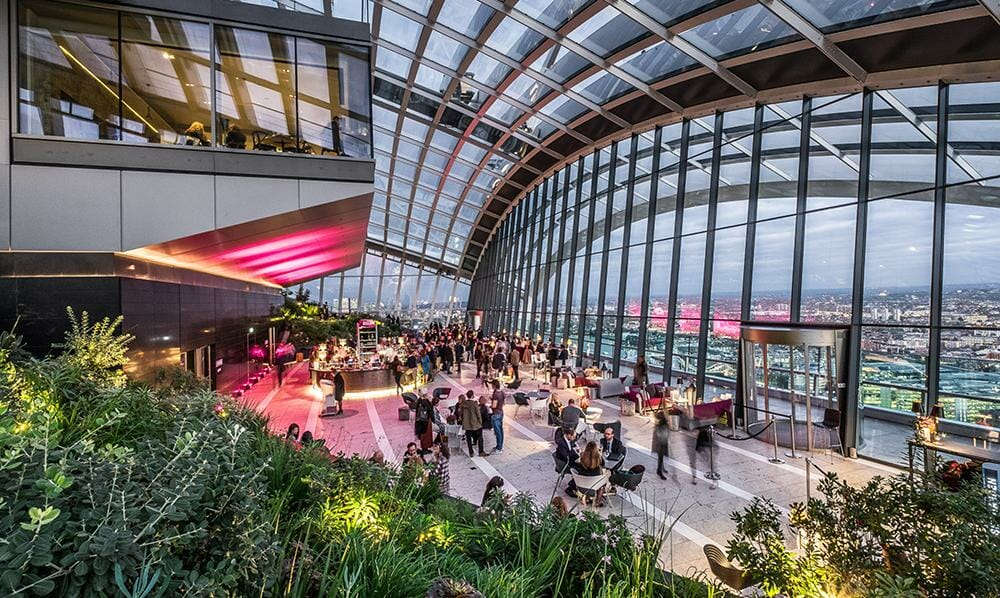 View of the Sky Garden and bar