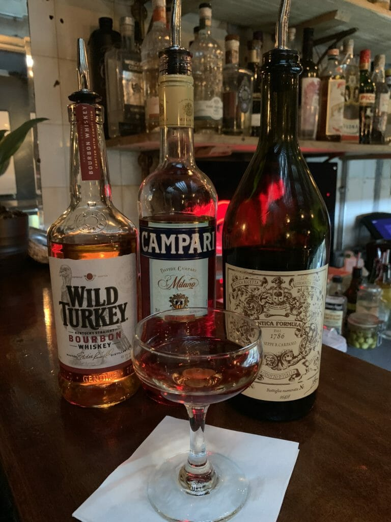 Boulevardier with Wild Turkey, Campari and Antica Formula