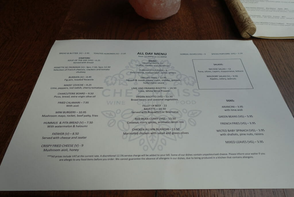 Chez Maiss All Day Menu