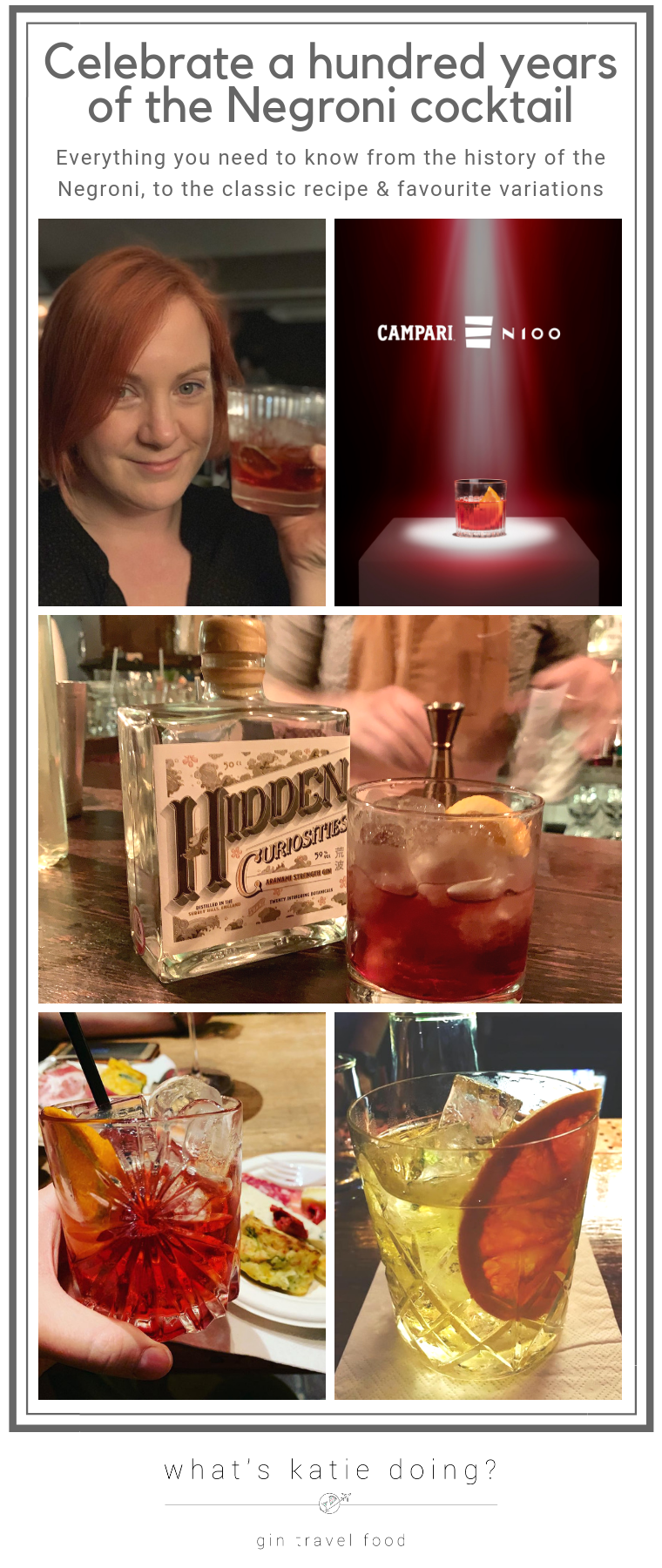 Celebrate a hundred years of the classic Negroni cocktail - read the history, get inspired and find your perfect recipe!