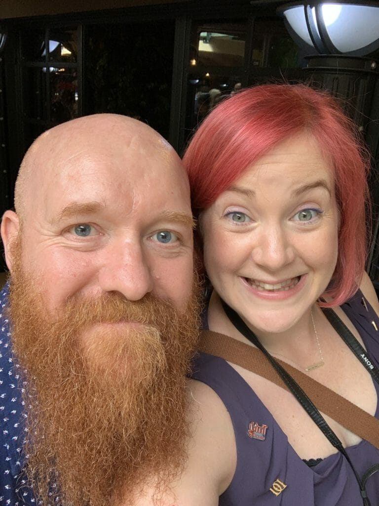 Katie and Jim selfie