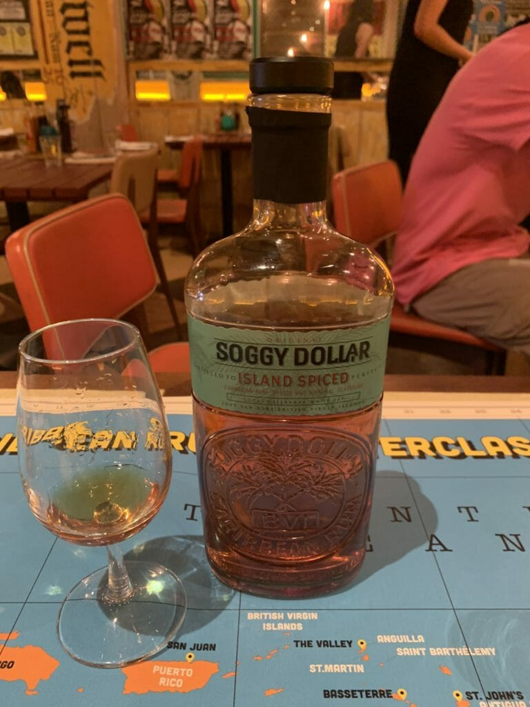 Soggy Dollar rum bottle