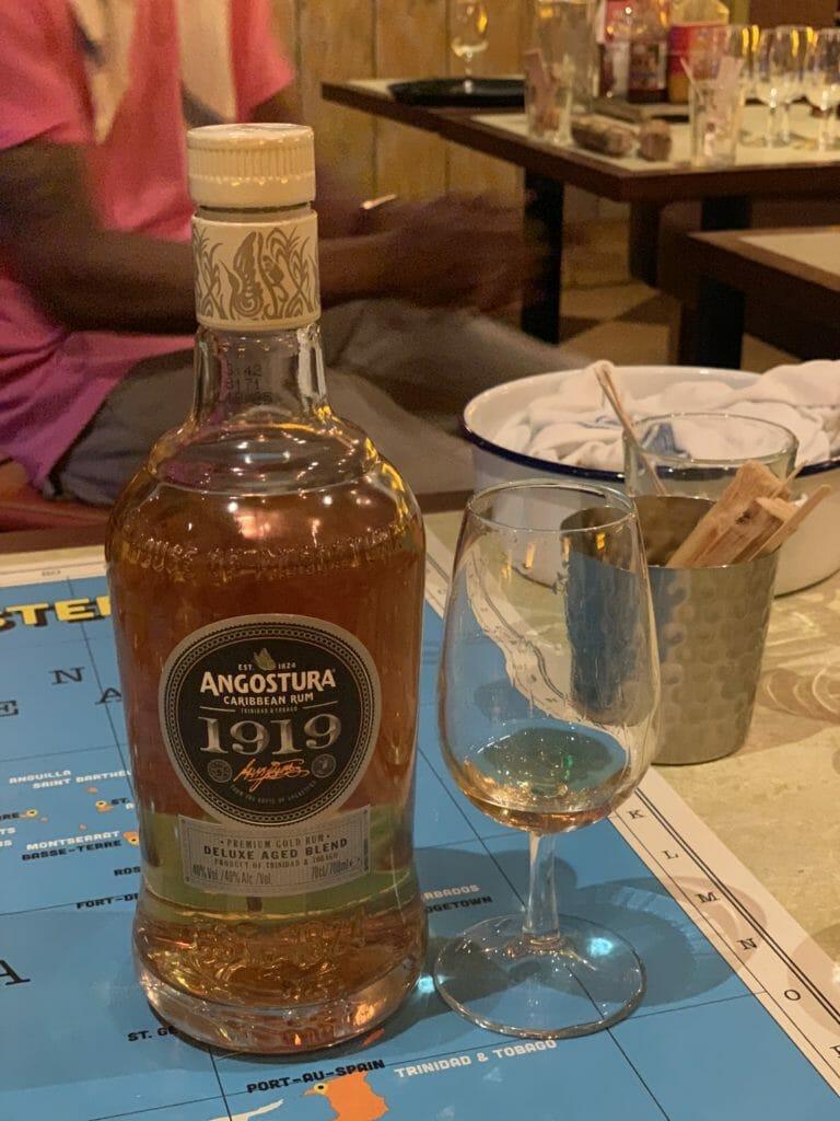 Angostura 1919 rum bottle