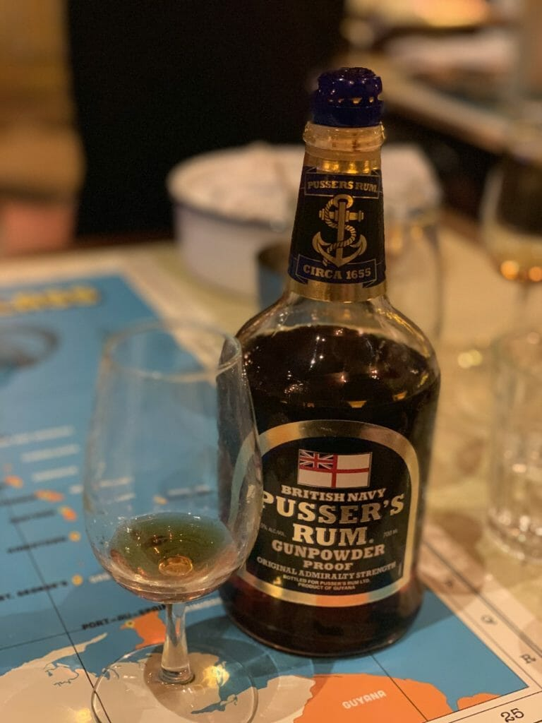 Bottle of Pusser's rum