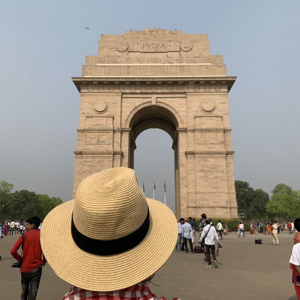 Hat in front of India gate in Delhi