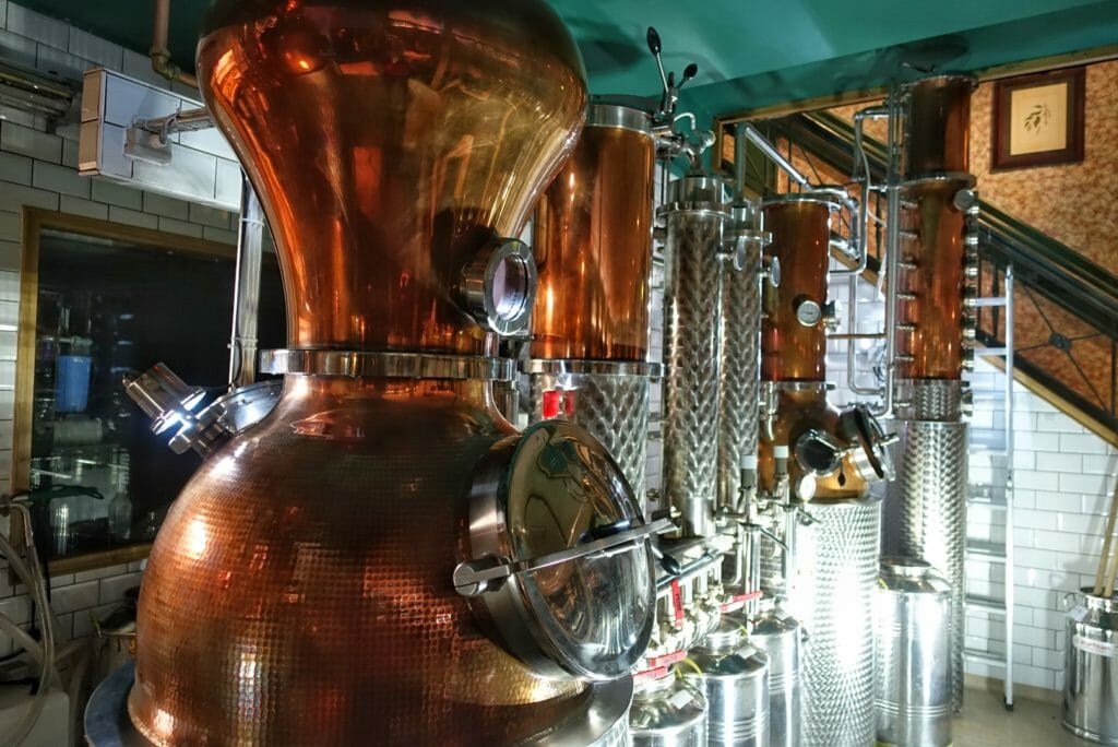 The still room at City of London Distillery