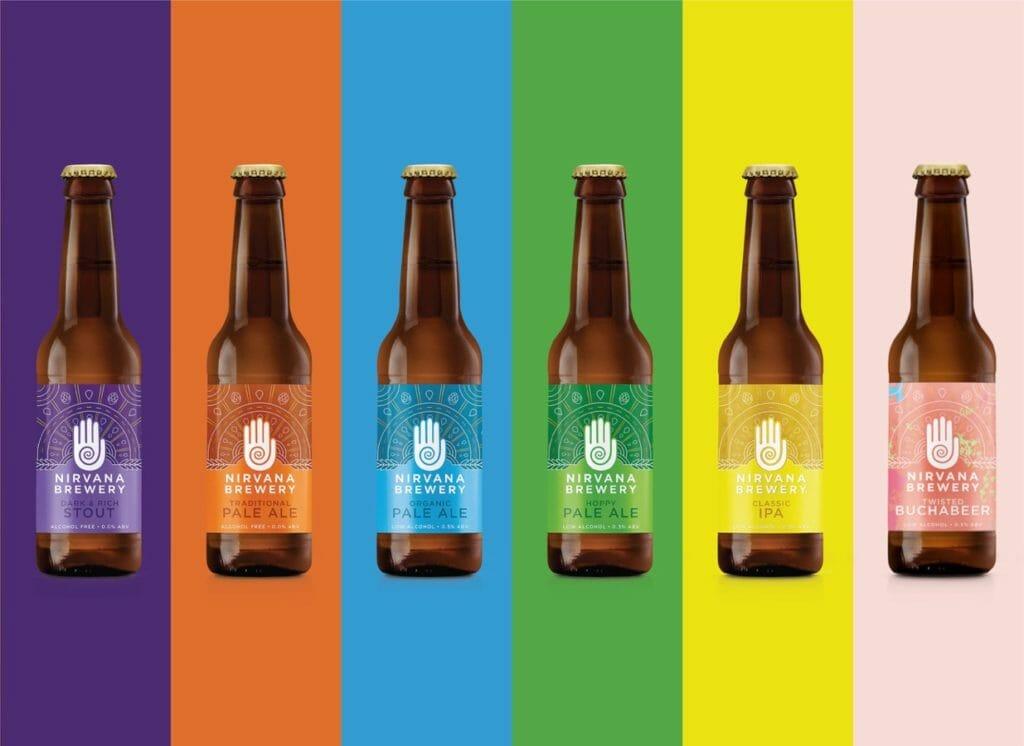 A rainbow of Nirvana beers