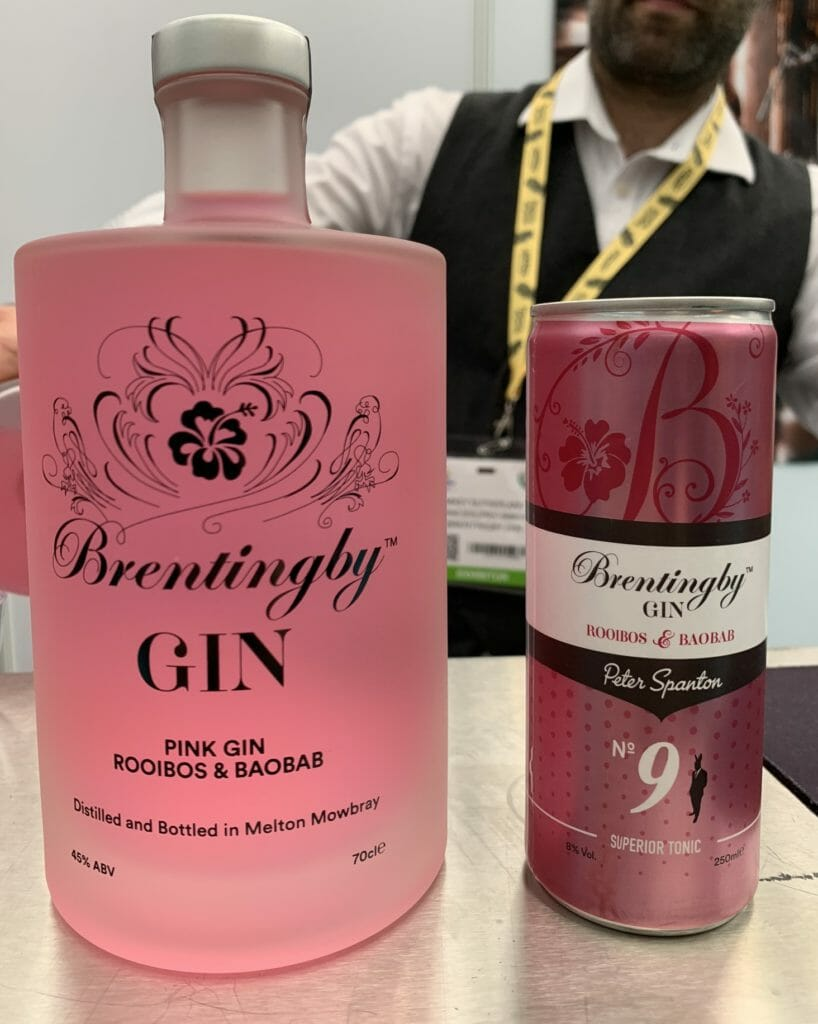 Brentingby Pink gin and the pre-mix gin and tonic in a tin