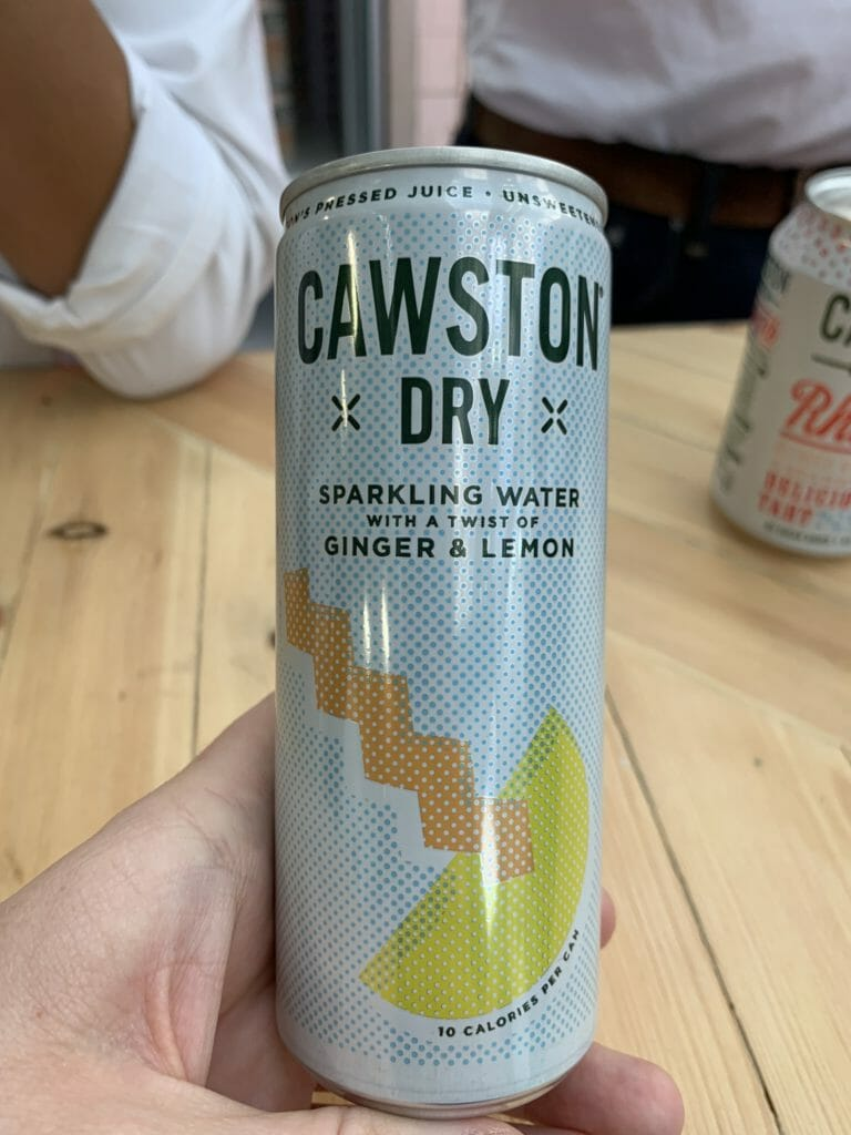 Cawston Dry sparkling water with a twist of ginger and lemon