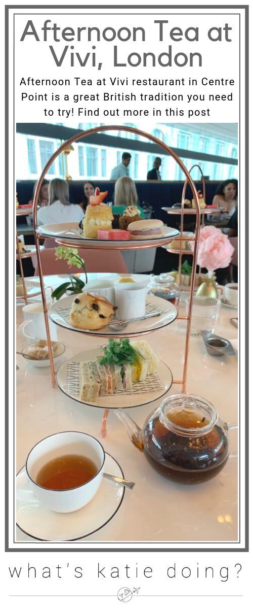 Afternoon Tea at Vivi, Centre Point, London is a must do!
