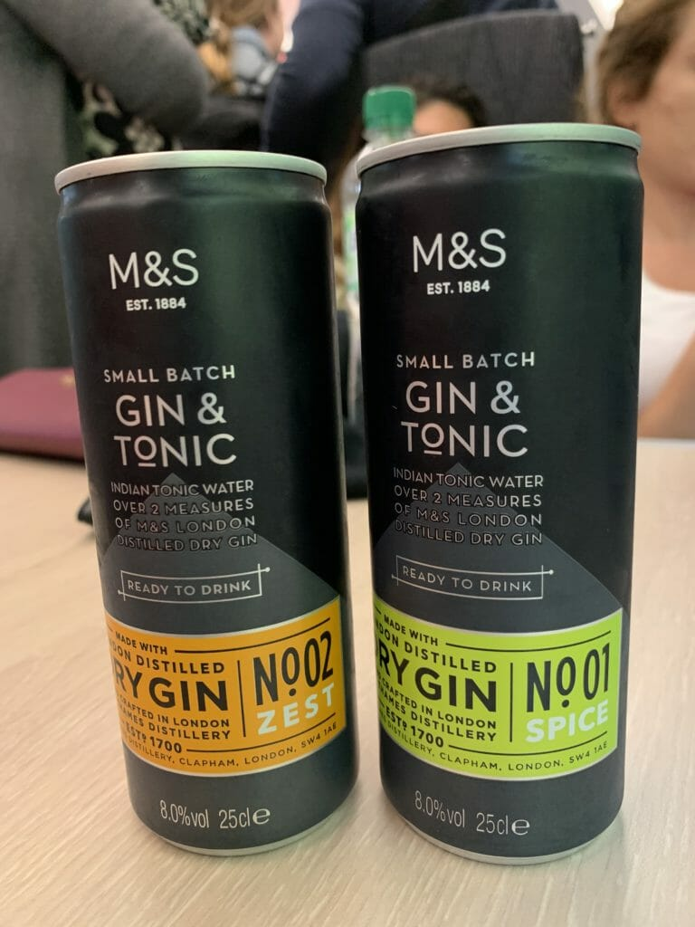 M&S craft gin tins