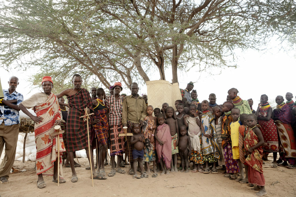 Group of Turkana people