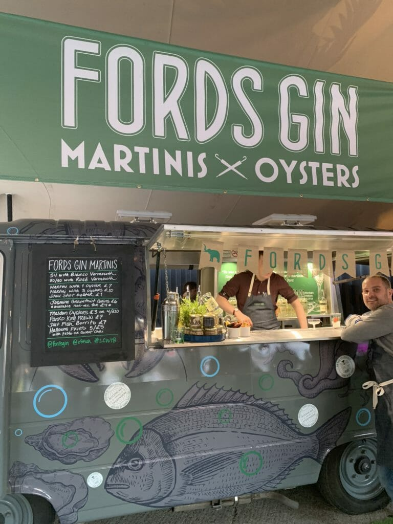 Fords gin martinis & oyster van