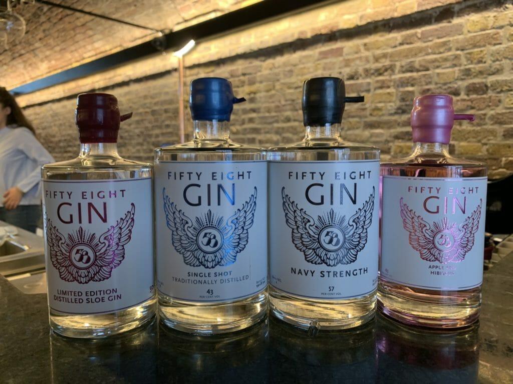 The 58 gin range