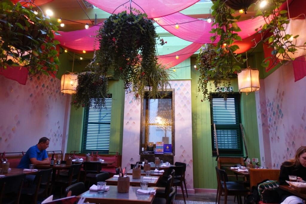 Main dining room at Cinnamon Bazaar