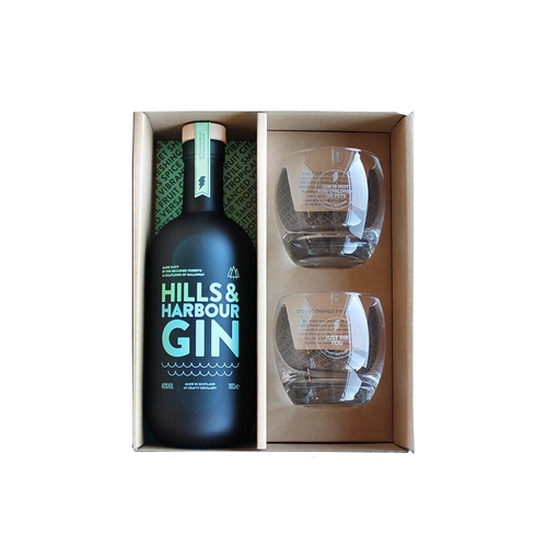 Hills & Harbour gin gift set