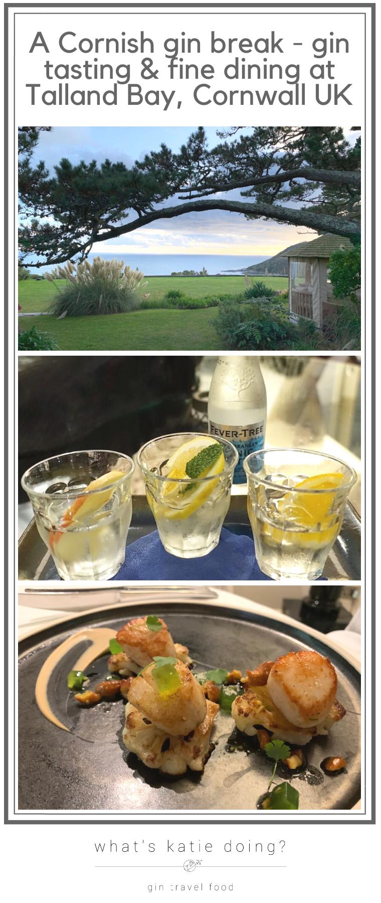 A Cornish gin break - gin tasting & fine dining at Talland Bay Hotel, Cornwall UK