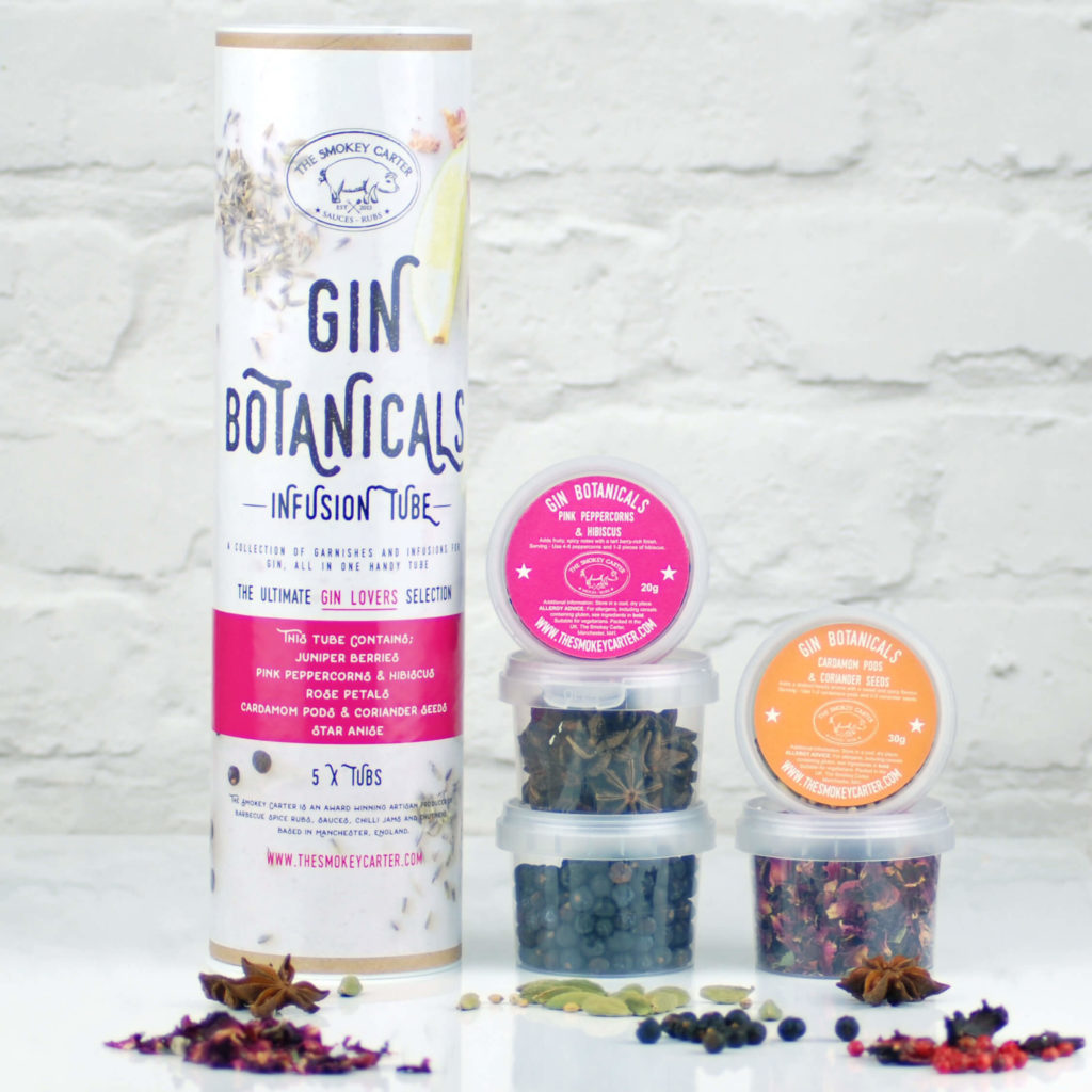The Smokey Carter gin botanicals infusion tube