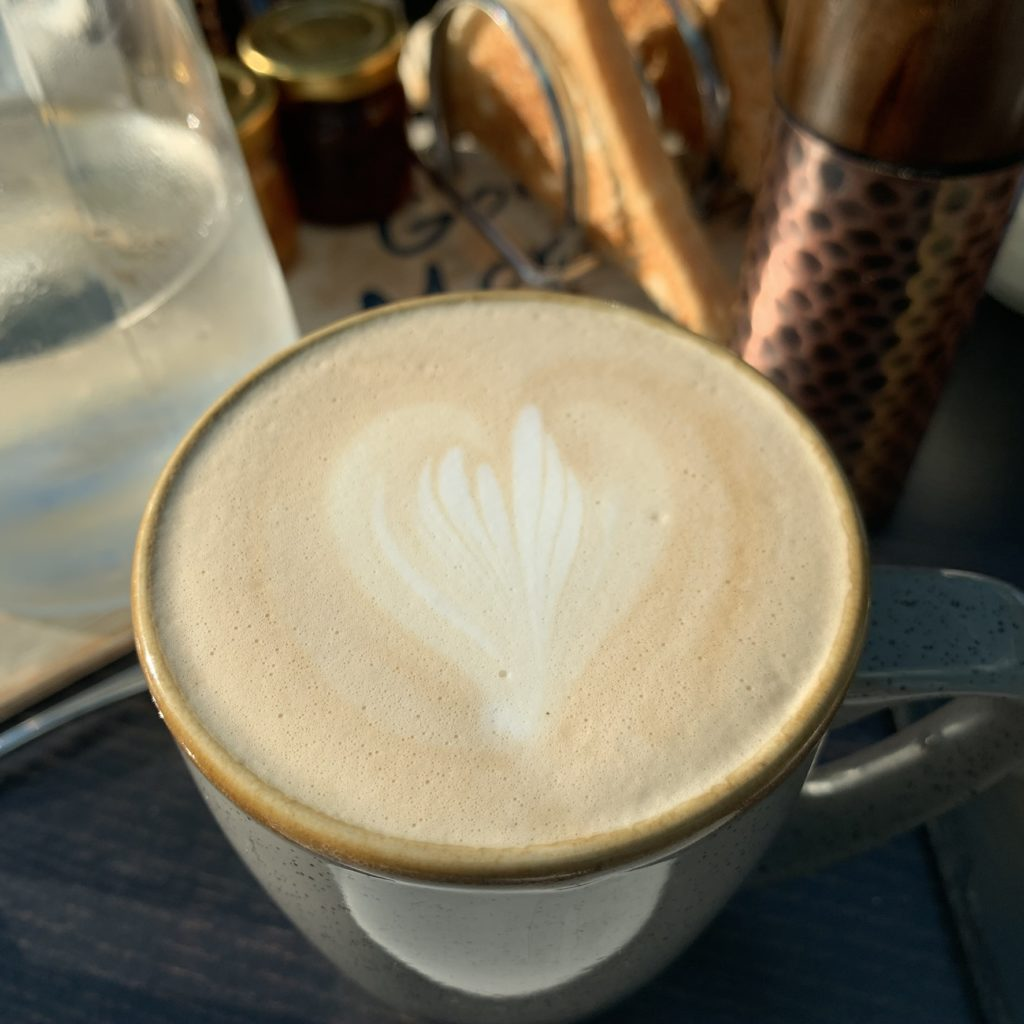 Latte with heart on top