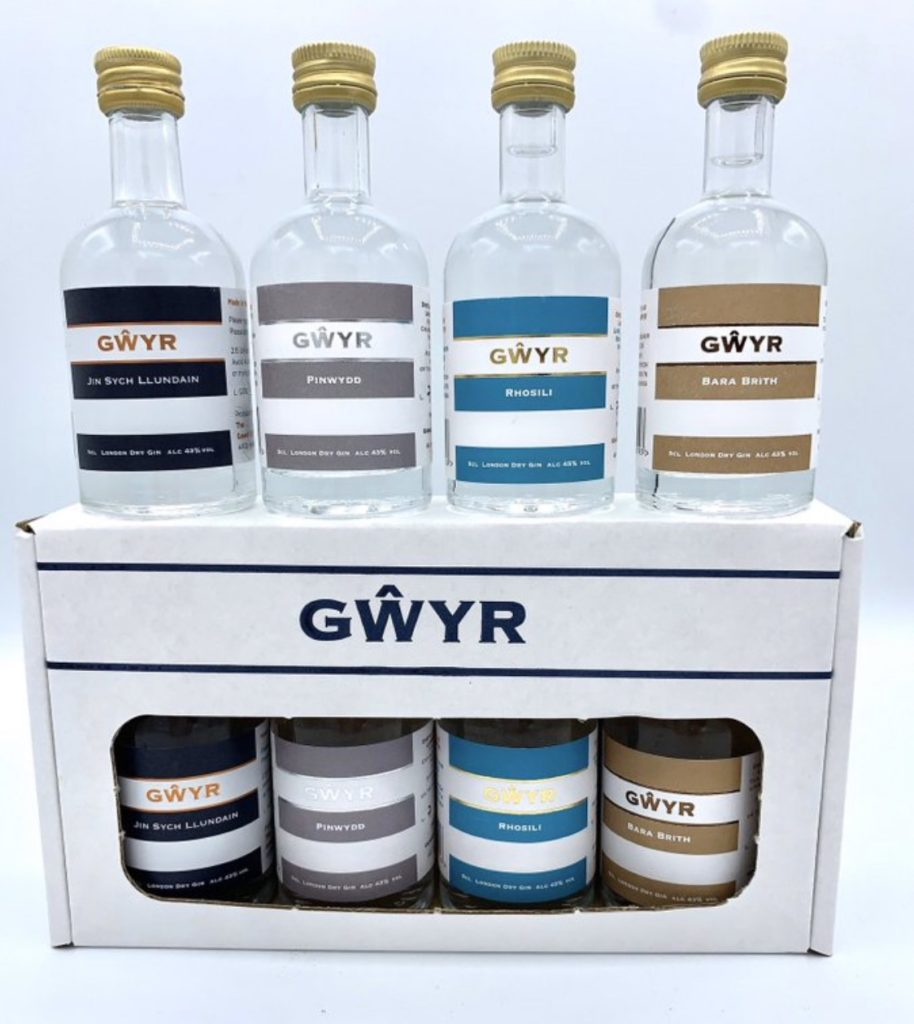 Gwyr (Gower) gin miniature set