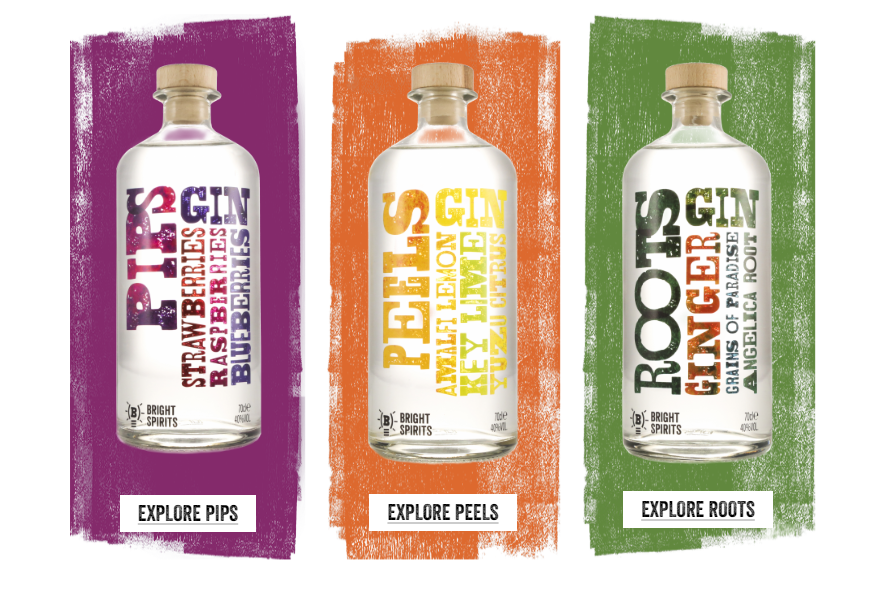 Bright Spirits gins
