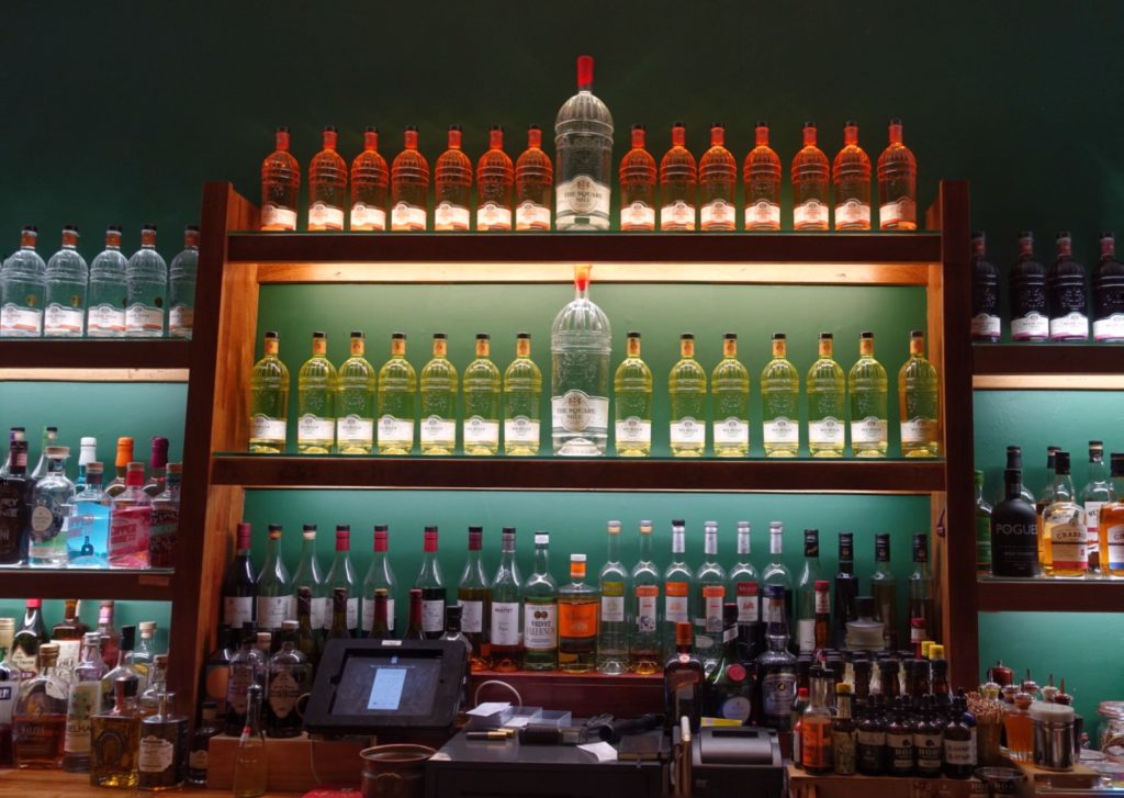 The City of London Distillery back bar