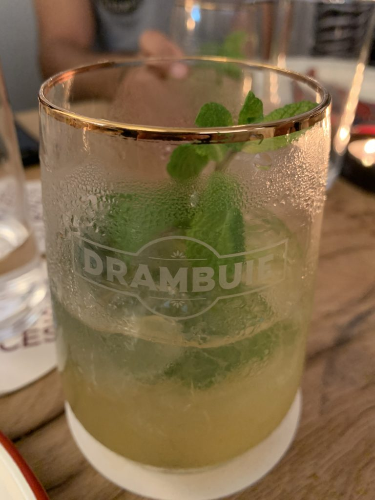 Drambuie branded glass
