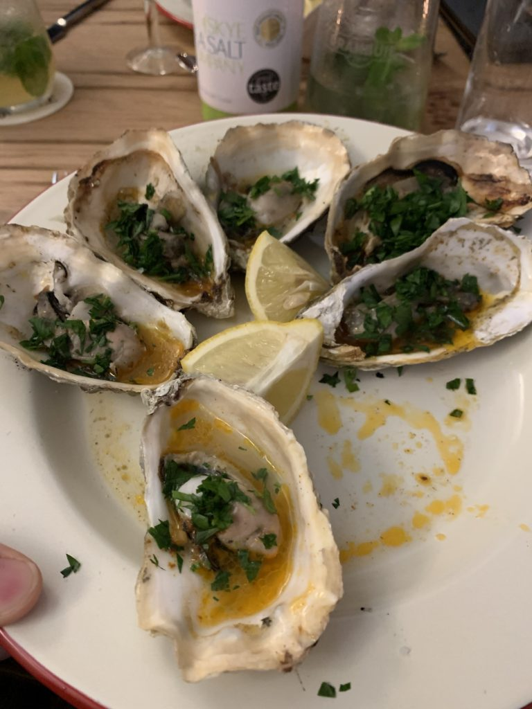 Plateful of oysters
