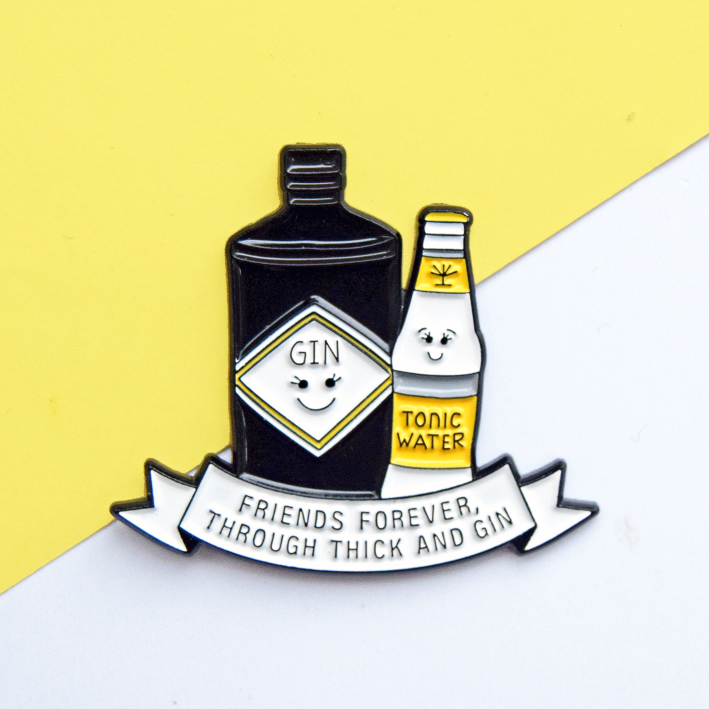 Gin and tonic pin