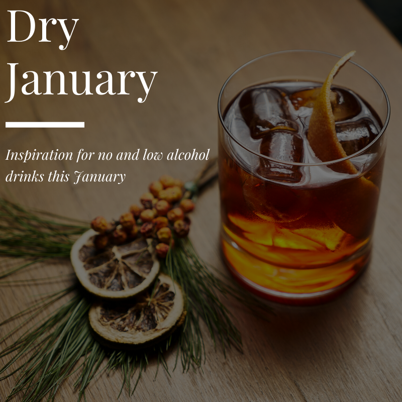 Dry January - inspiration for no and low alcohol drinks this January
