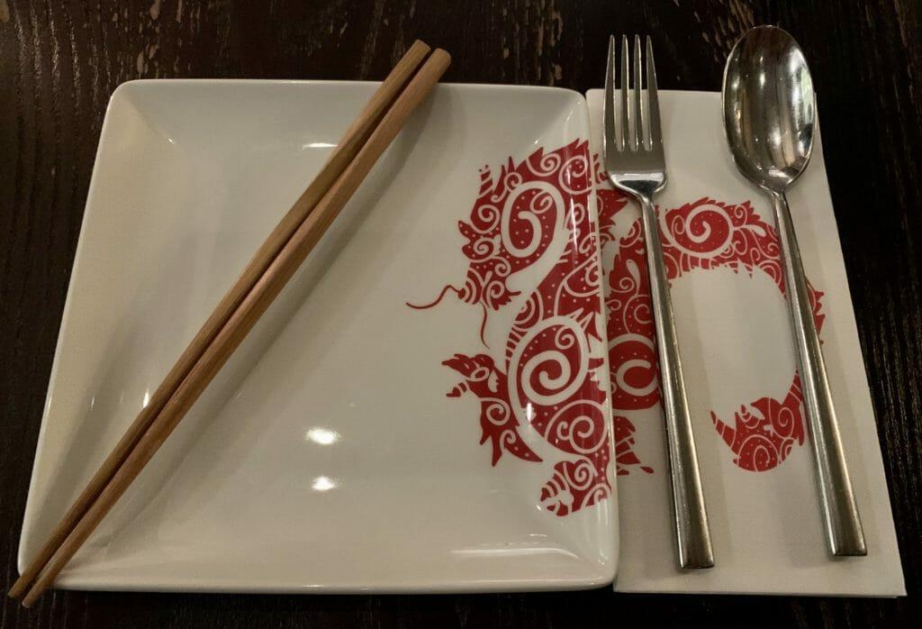 Dragon plates at PF Chang's
