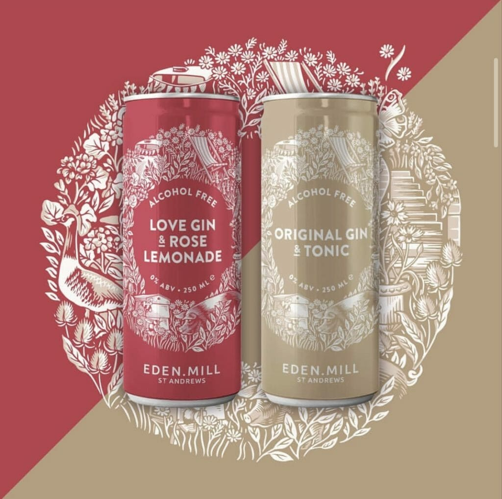 Eden Mill Love Gin & Rose Lemonade alcohol free can
